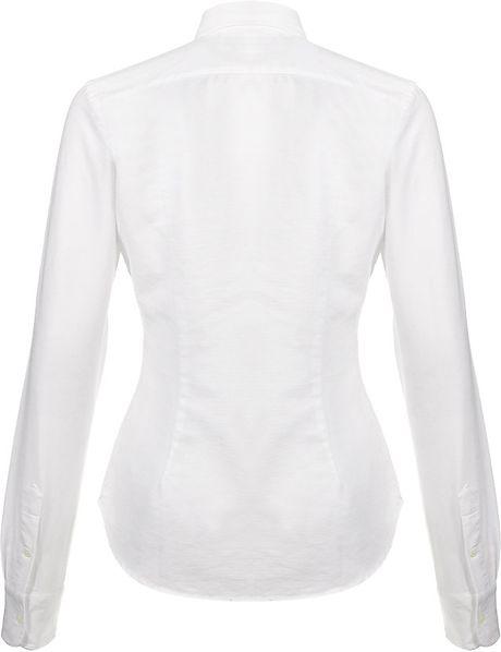 Ralph Lauren Blue Label Classic Oxford Shirt In White Lyst