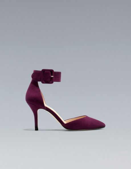 Zara Basic Vamp and Heel in Red (bordeaux)