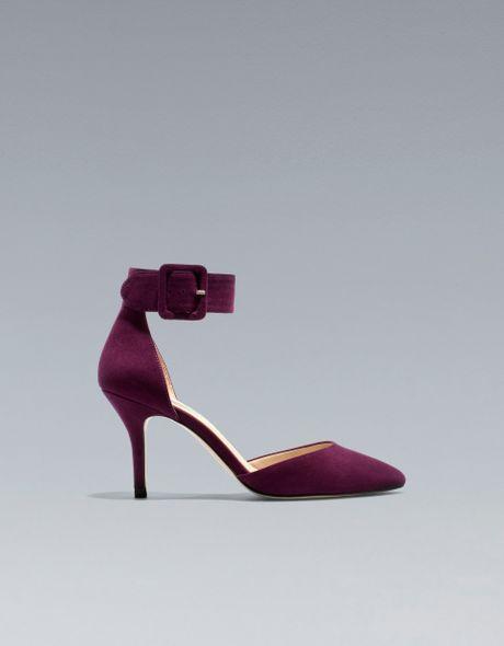 Zara Basic Vamp and Heel in Red (bordeaux)