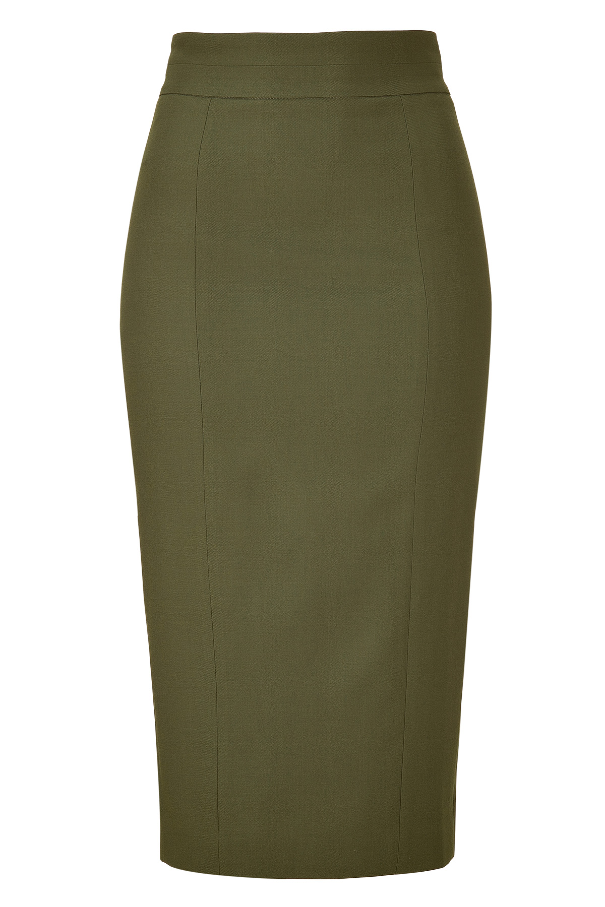 L'wren scott Khaki Wool Pencil Skirt in Black | Lyst
