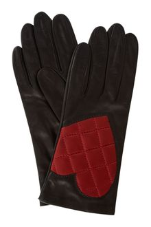 Moschino Cheap & Chic Quilted Heart Leather Glove - Lyst