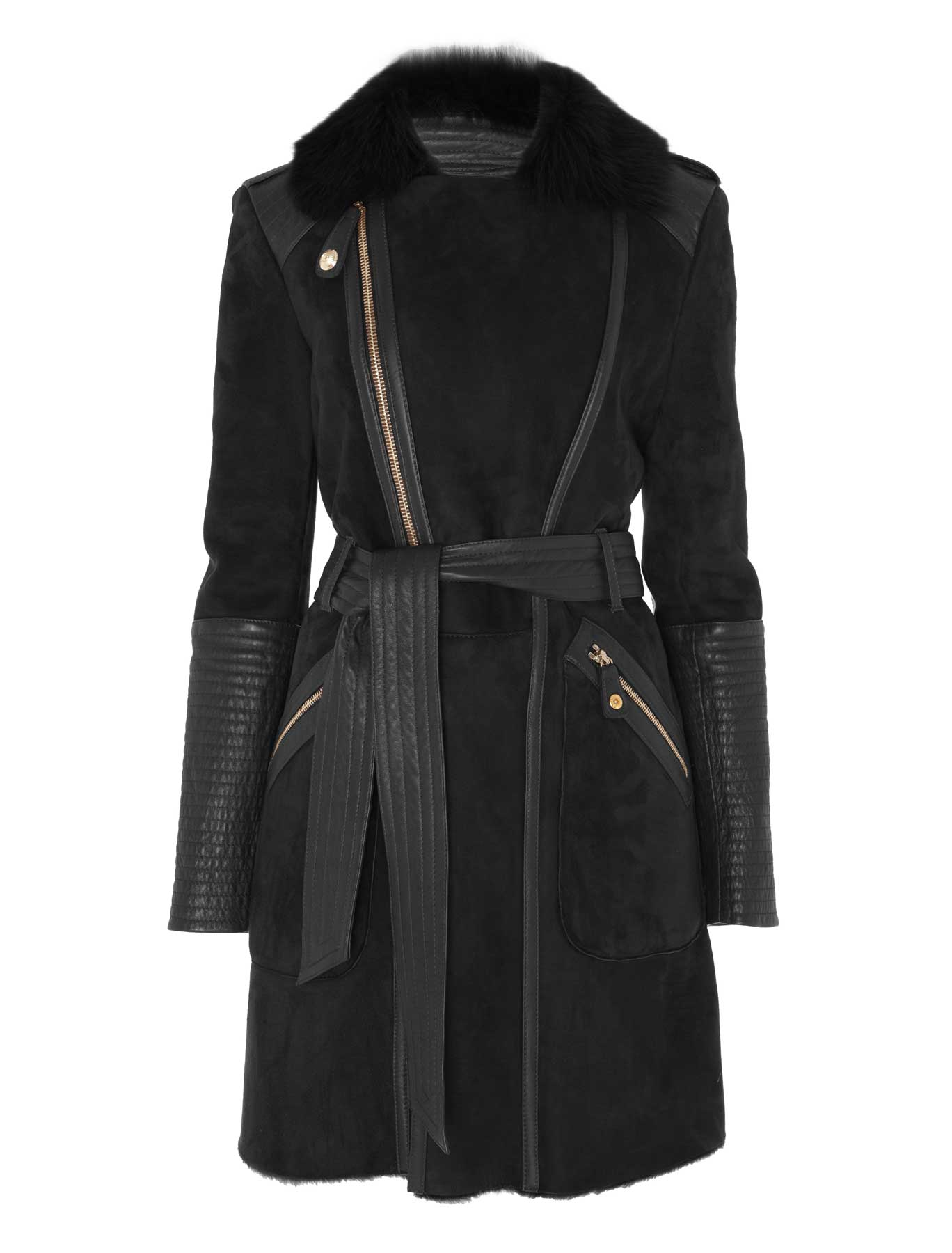 Temperley london Classic Odele Sheepskin Coat in Black | Lyst