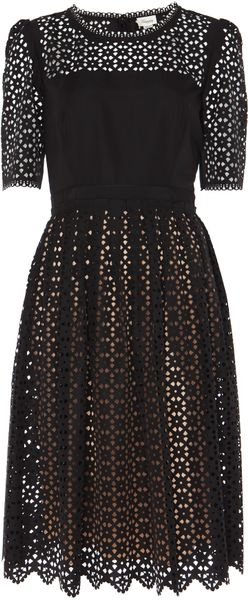 Temperley London Templeton Dress in Black (black/champagne)