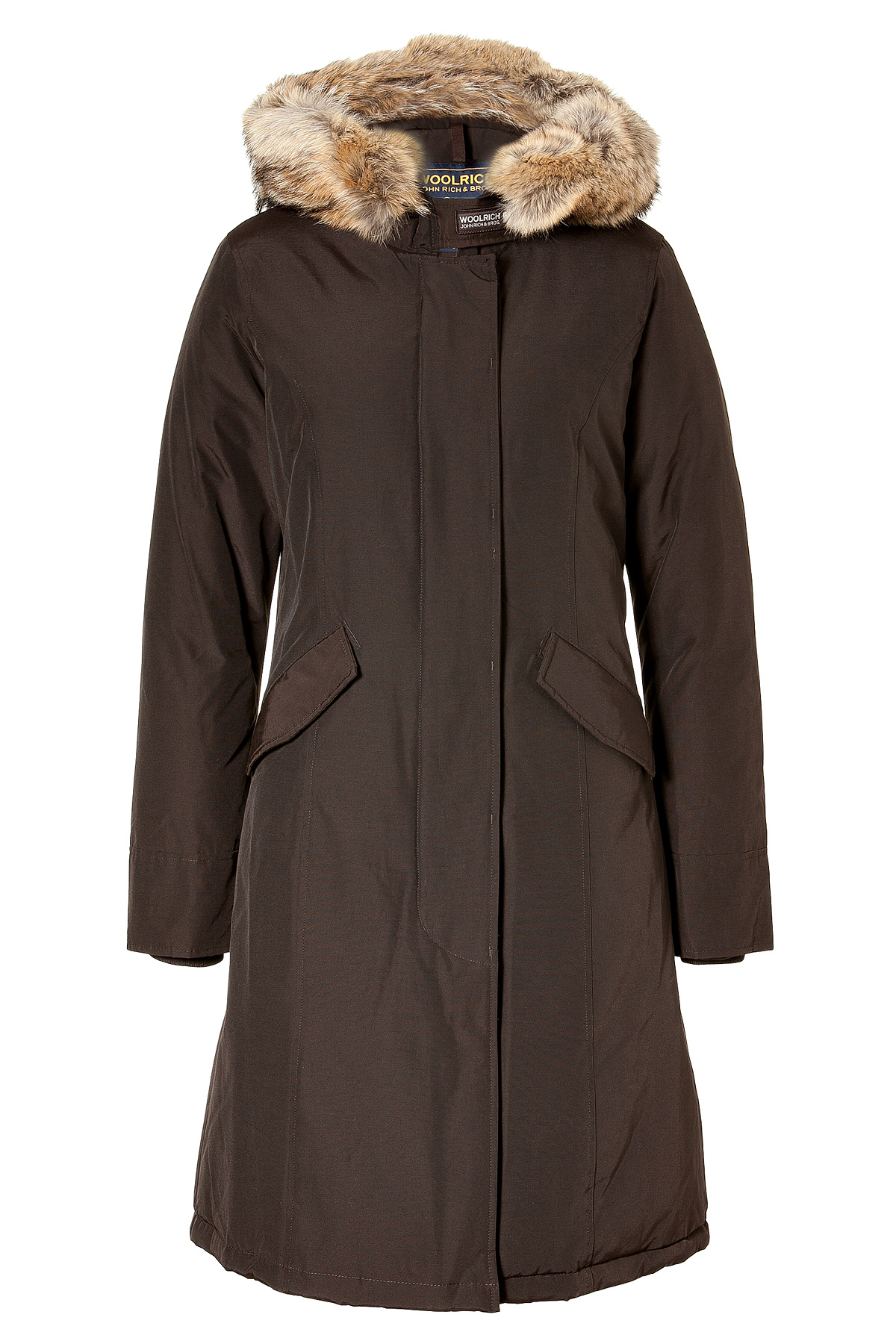woolrich wood brown long arctic down parka in black brown lyst. Black Bedroom Furniture Sets. Home Design Ideas