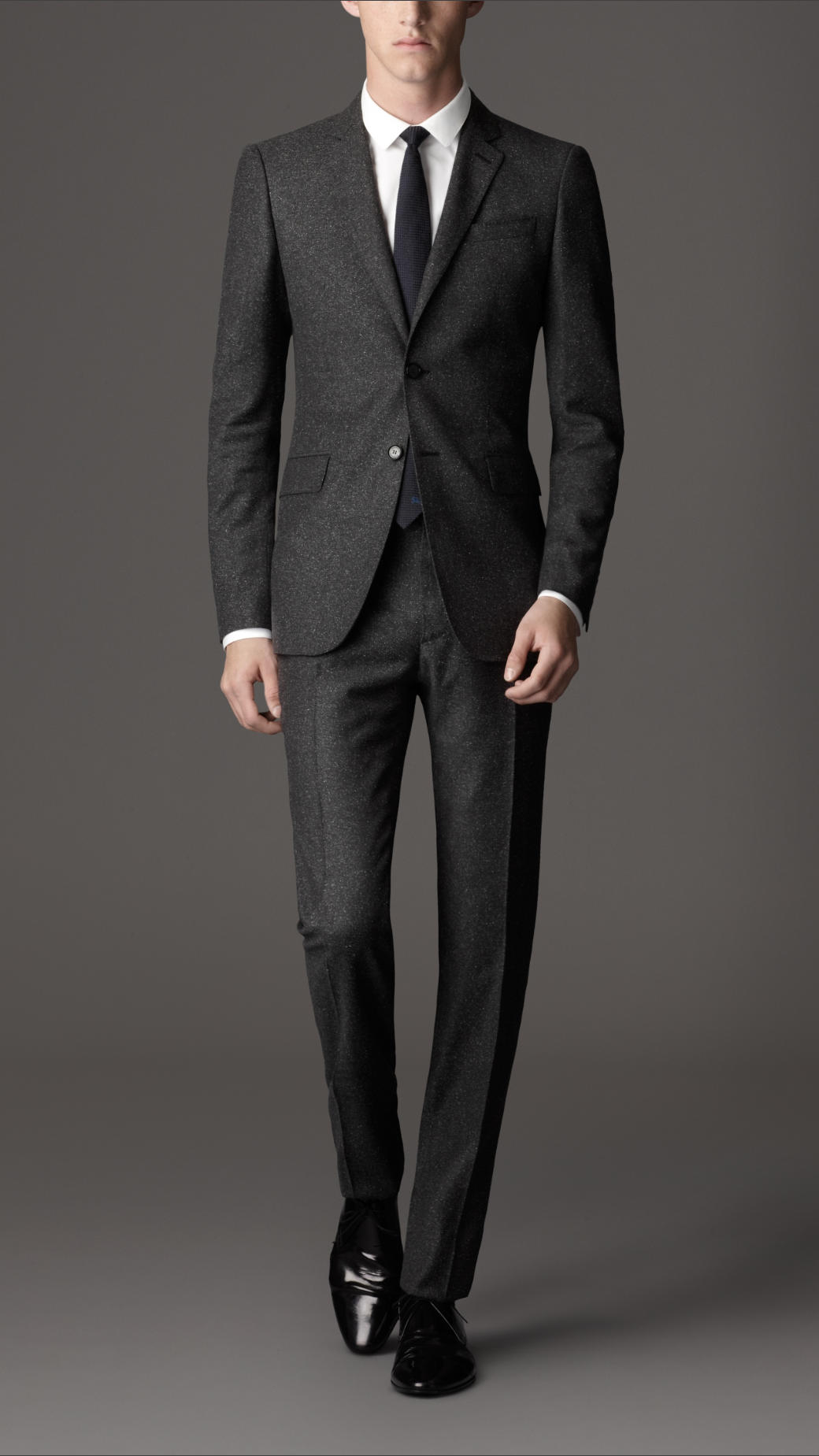 Burberry Slim Fit Cotton Linen Blend Suit in Brown for Men | Lyst