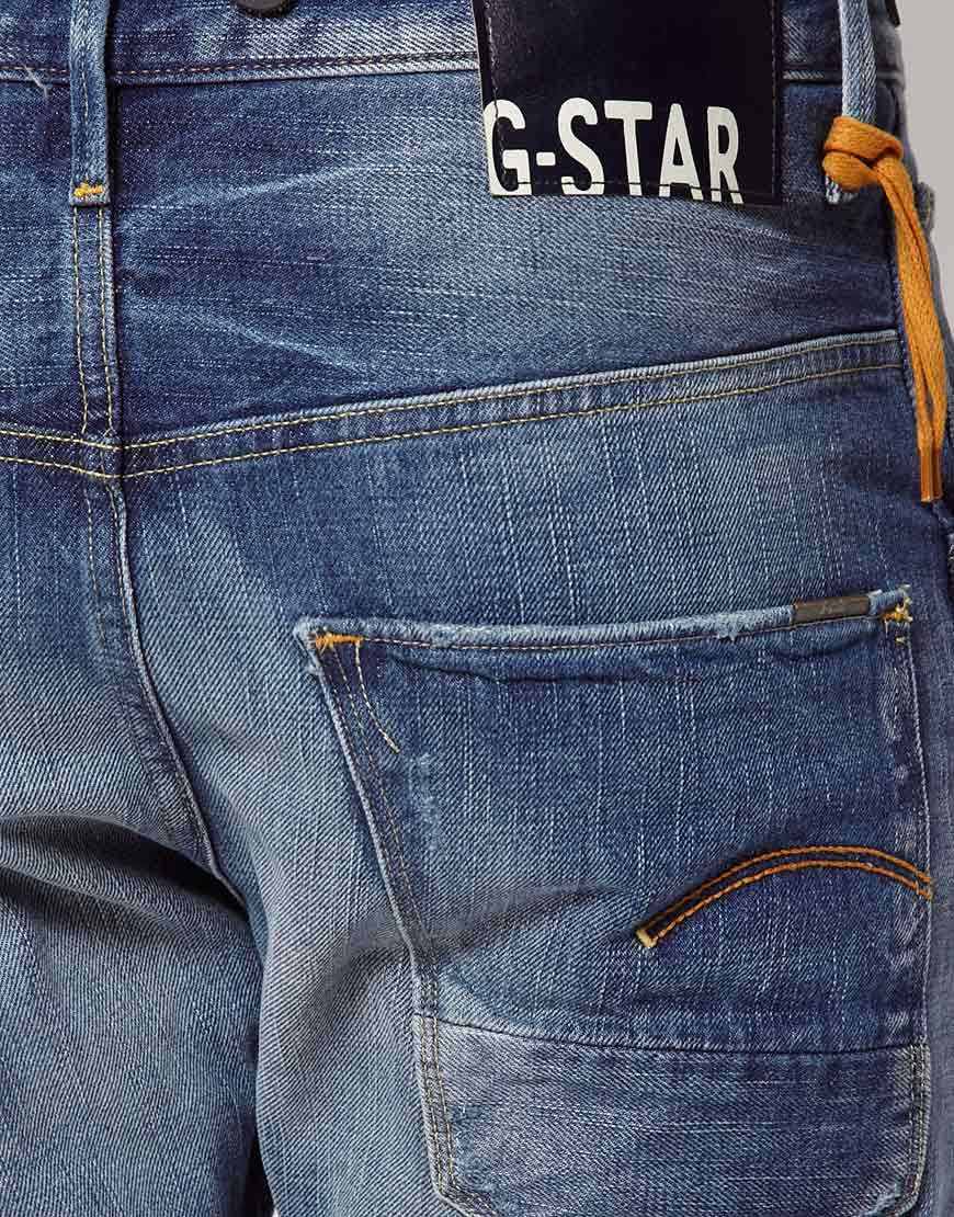 lyst g star raw jeans tapered arc 3d with braces in blue. Black Bedroom Furniture Sets. Home Design Ideas