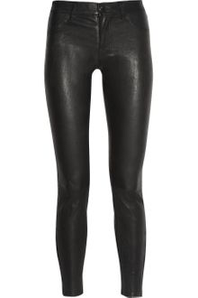 J Brand Stretch leather Skinny Pants - Lyst
