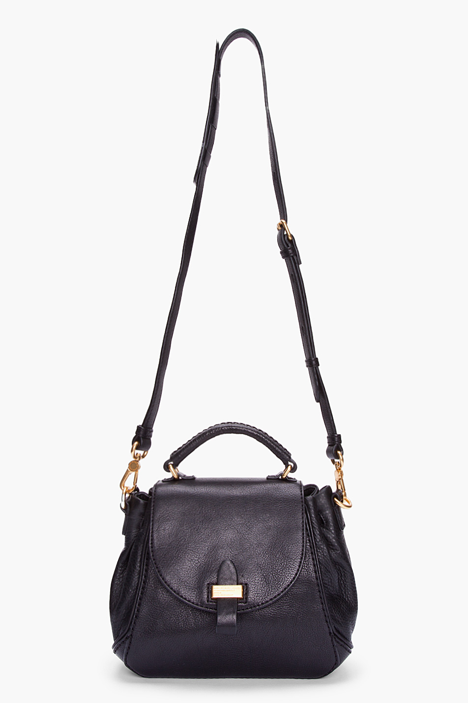 Marc by marc jacobs Small Black Leather Irina Shoulder Bag in ...