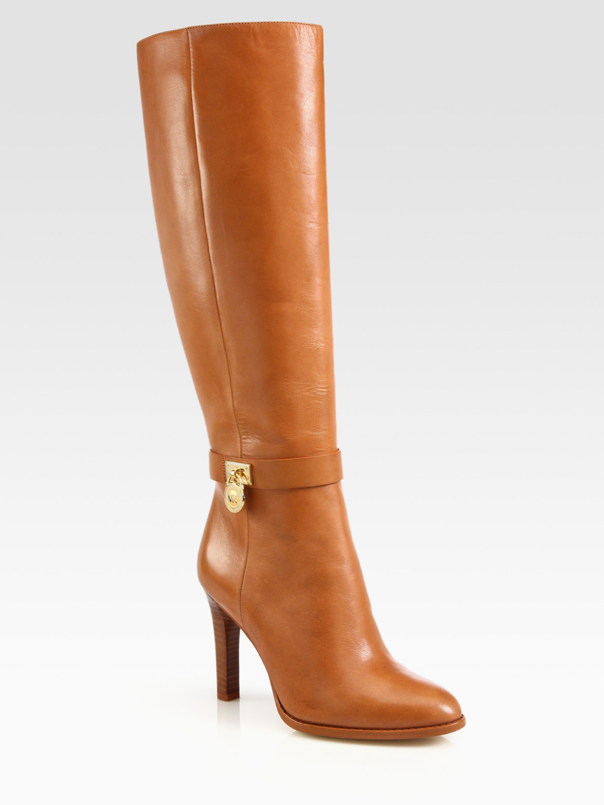 michael michael kors hamilton leather boots in brown lyst. Black Bedroom Furniture Sets. Home Design Ideas