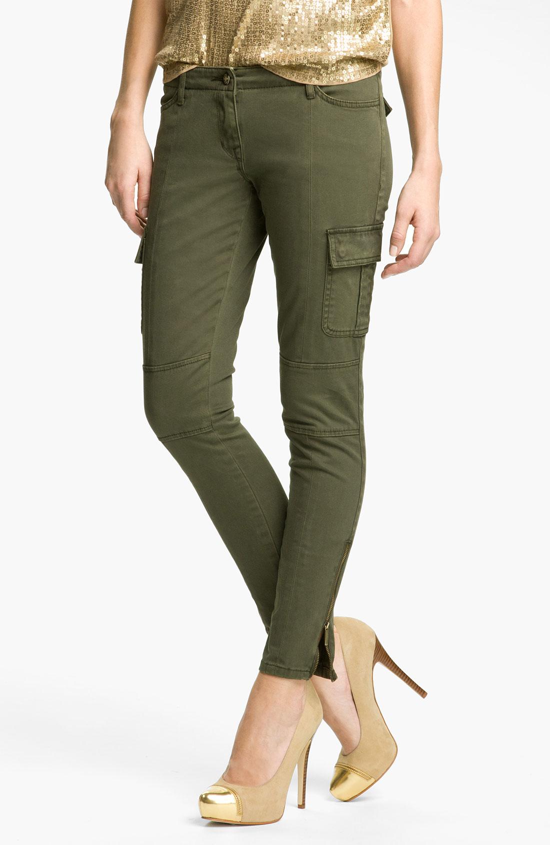 Michael michael kors Skinny Cargo Pants in Green
