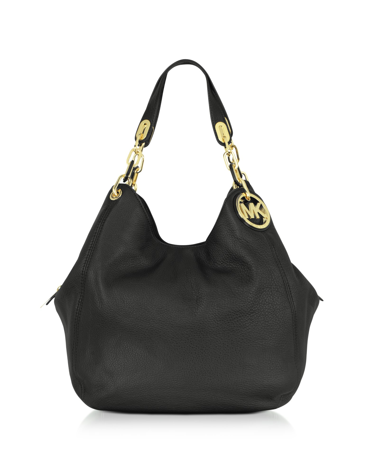 c31c80c0259c Lyst - Michael Kors Michael Fulton Large Leather Shoulder Tote in Black
