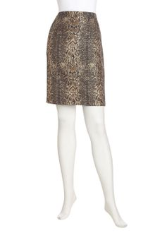 Tahari Metallic Python Pencil Skirt - Lyst