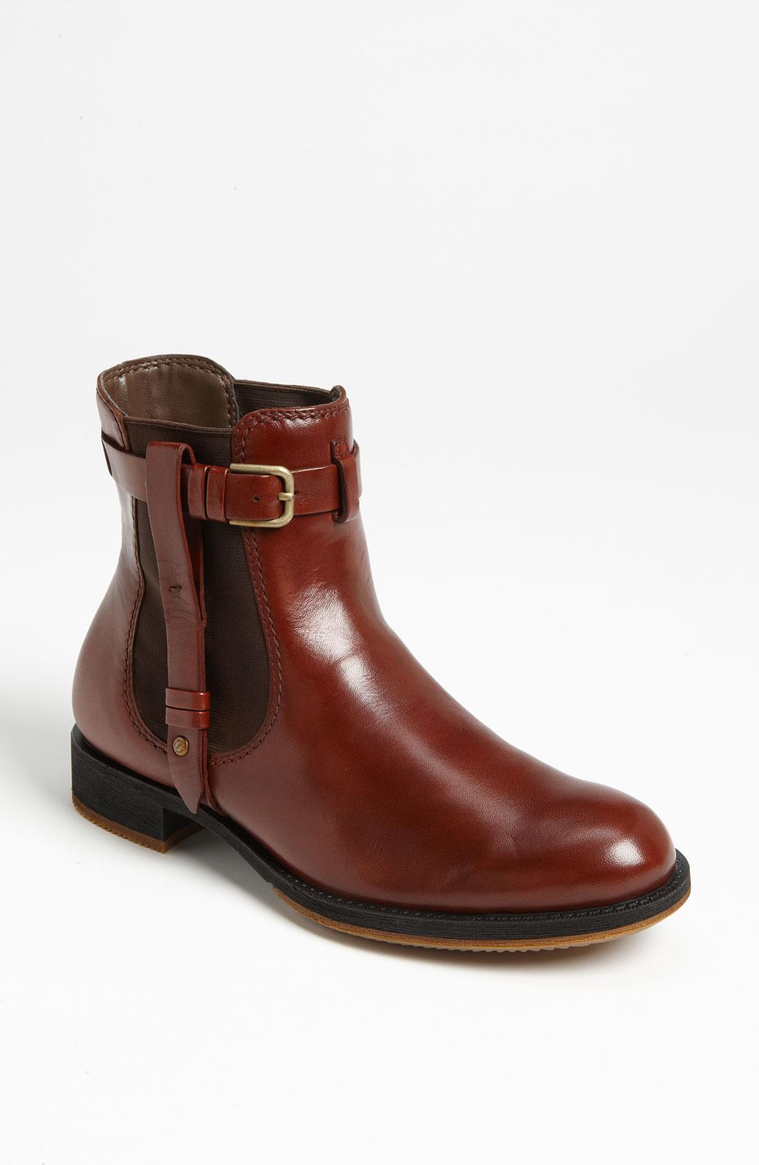 ecco saunter chelsea boot in brown cognac lyst. Black Bedroom Furniture Sets. Home Design Ideas
