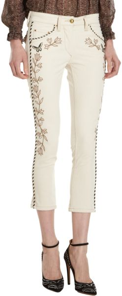 Isabel Marant Monroe Jeans in White (cream) - Lyst