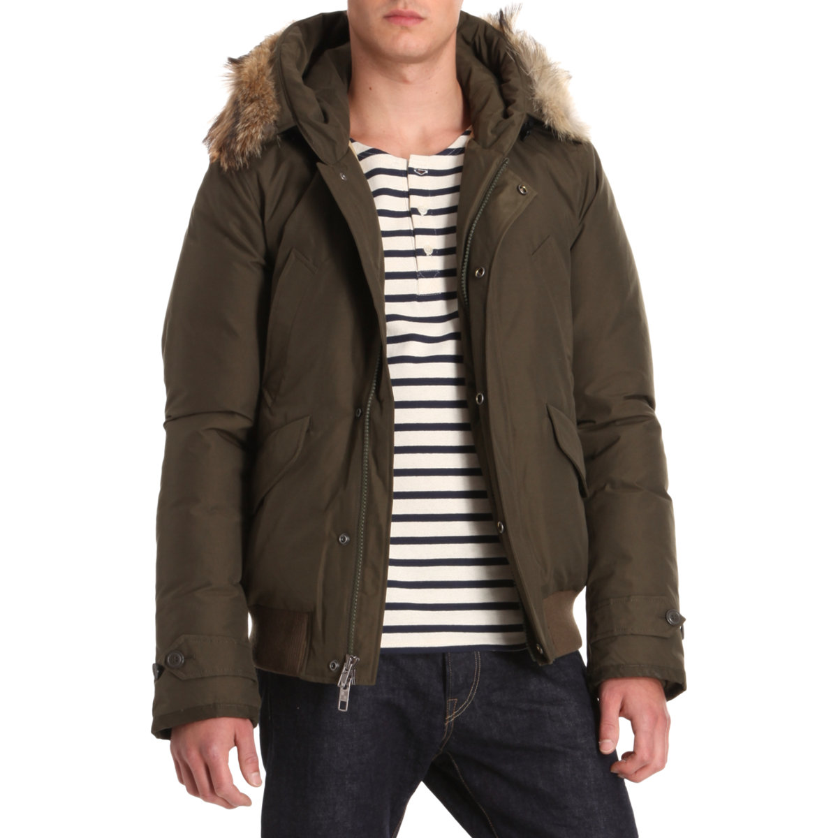 Lyst Woolrich Short Quilted Jacket In Blue For Men