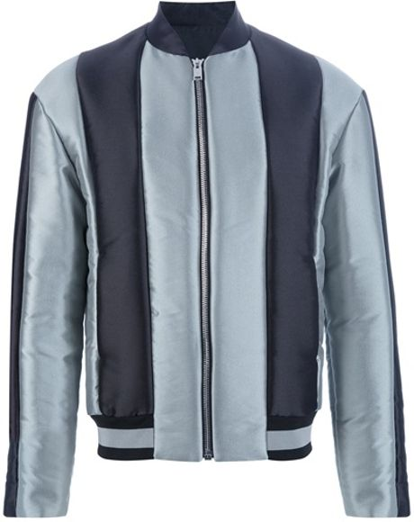 Balenciaga Paneled Jacket in Silver for Men (grey) - Lyst