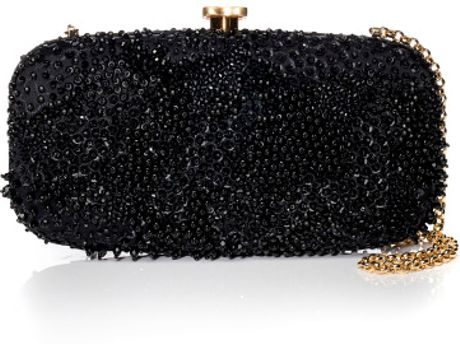 Oscar De La Renta Ss Black New Goa Clutch in Black
