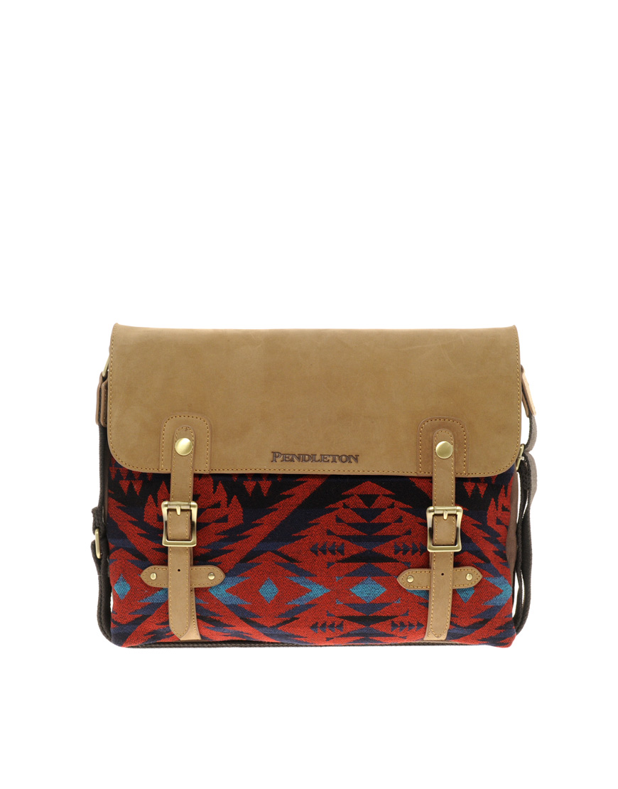 Lyst Pendleton Messenger Bag In Red For Men