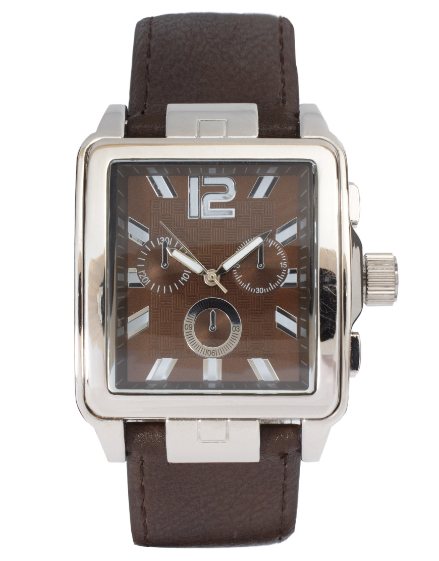Lyst River Island Square Face Chocolate Watch In Brown