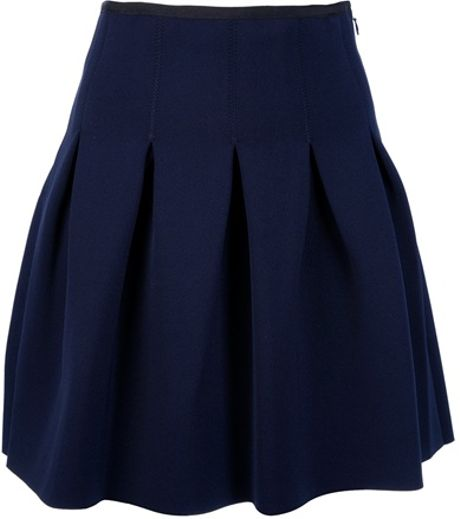 T By Alexander Wang Box Pleat Mini Skirt in Blue
