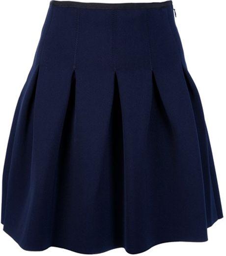 T By Alexander Wang Box Pleat Mini Skirt in Blue