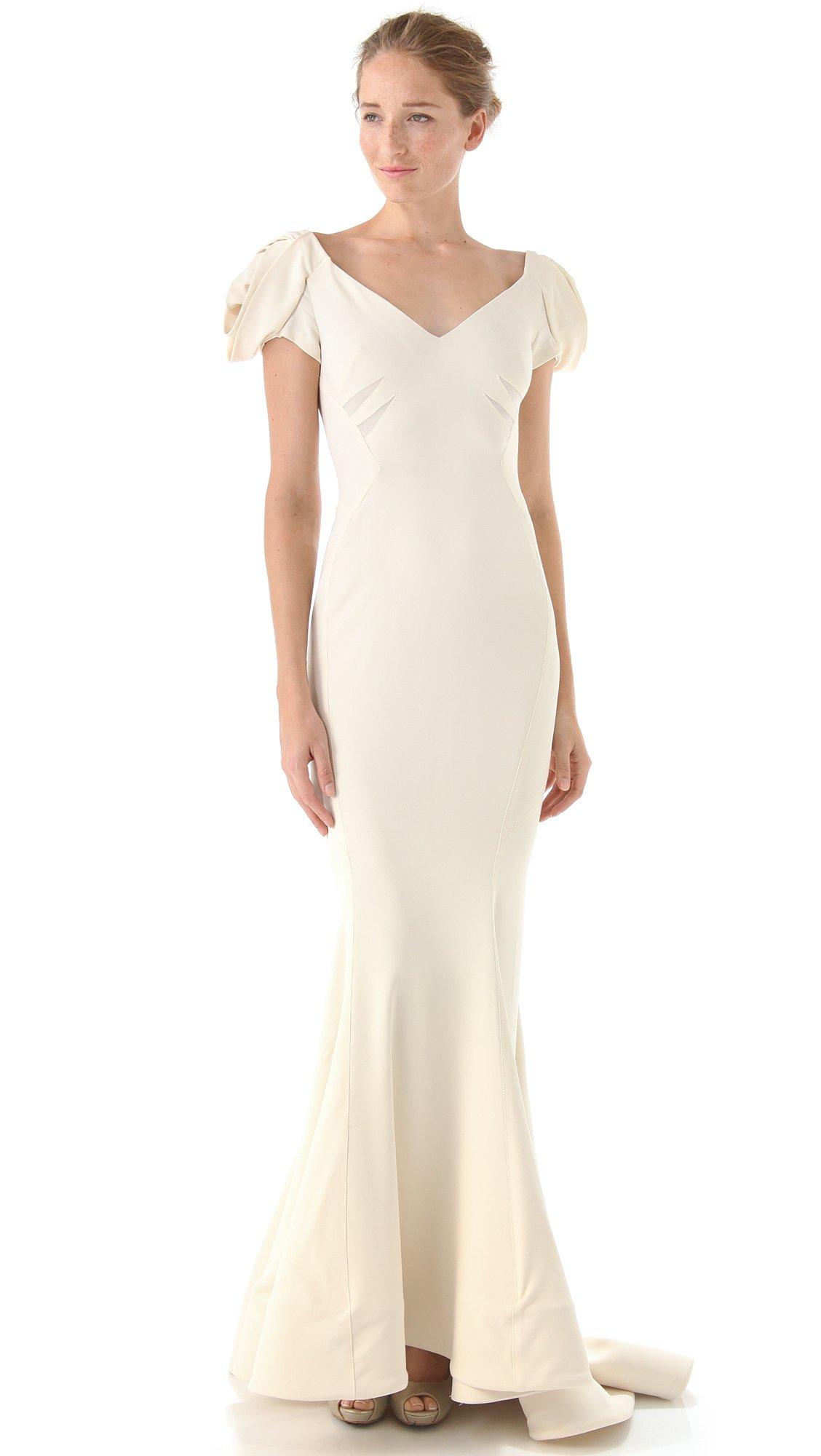 White zac posen dress.