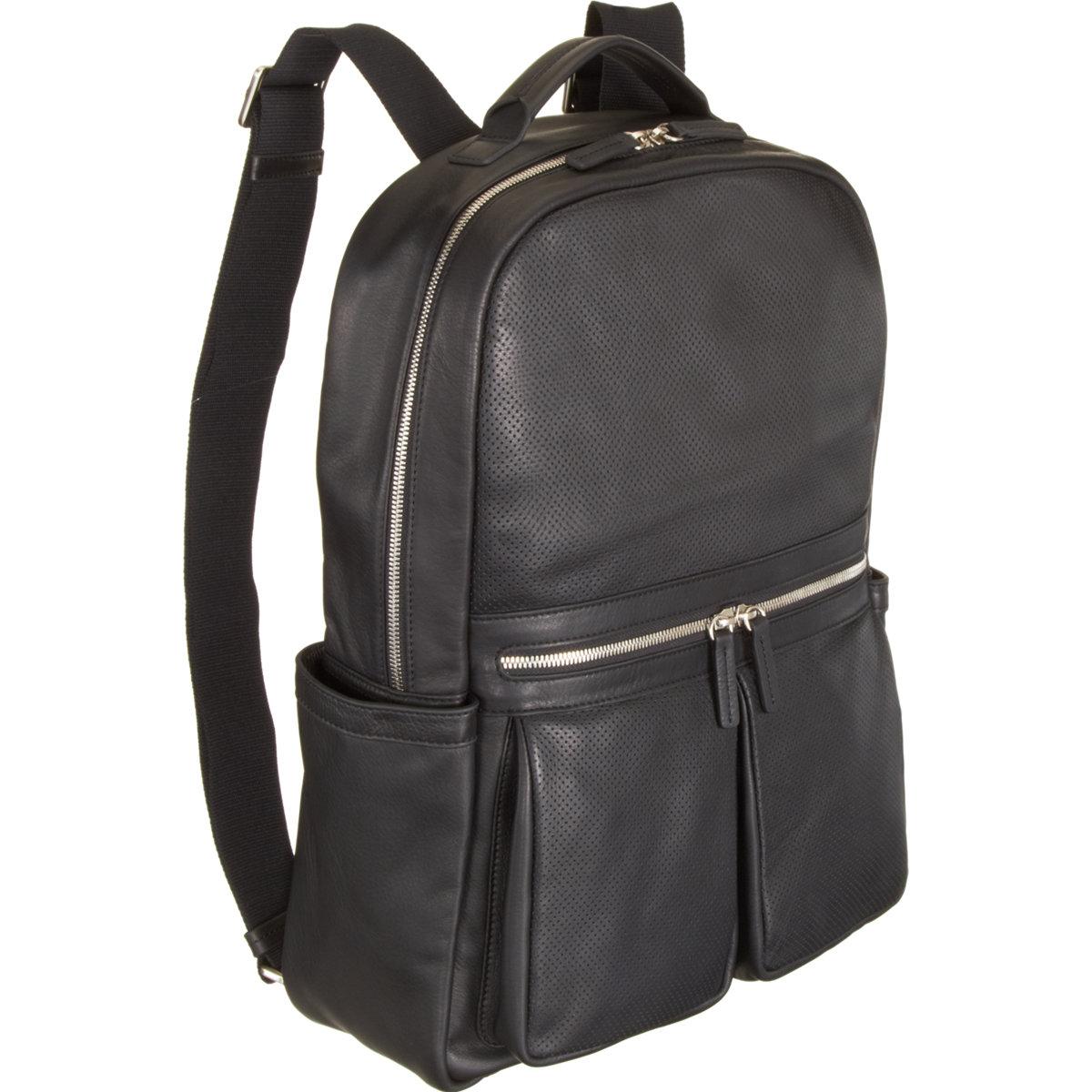 barneys new york perforated zip pocket backpack in black. Black Bedroom Furniture Sets. Home Design Ideas