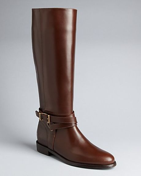 burberry bridal leather boots adelaide in brown
