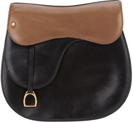 Gucci Leather Saddle Bag in Brown (black)