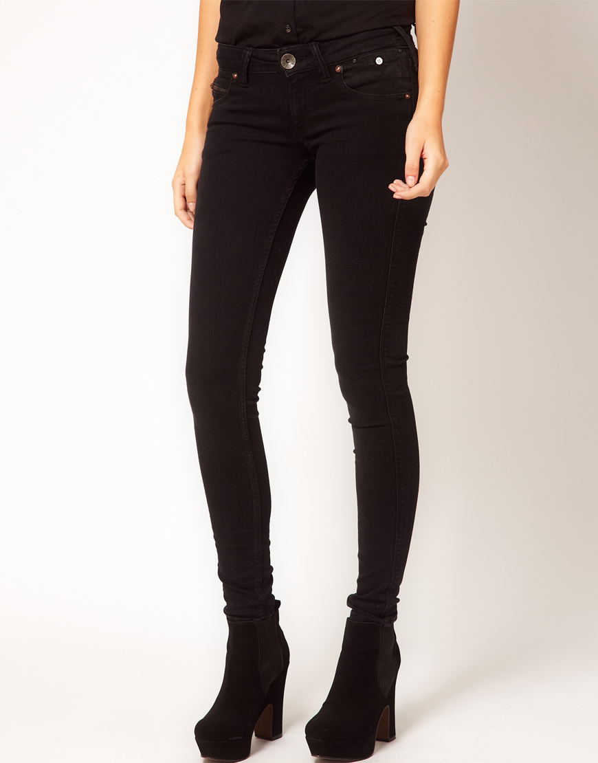 Hilfiger denim skinny jeans met coating