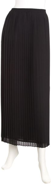 Michael By Michael Kors Pleated Maxi Skirt  in Black