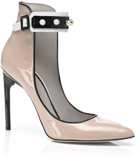 Jason Wu Accessories Margeaux Ankle Studded Pump in Black (nude/black)