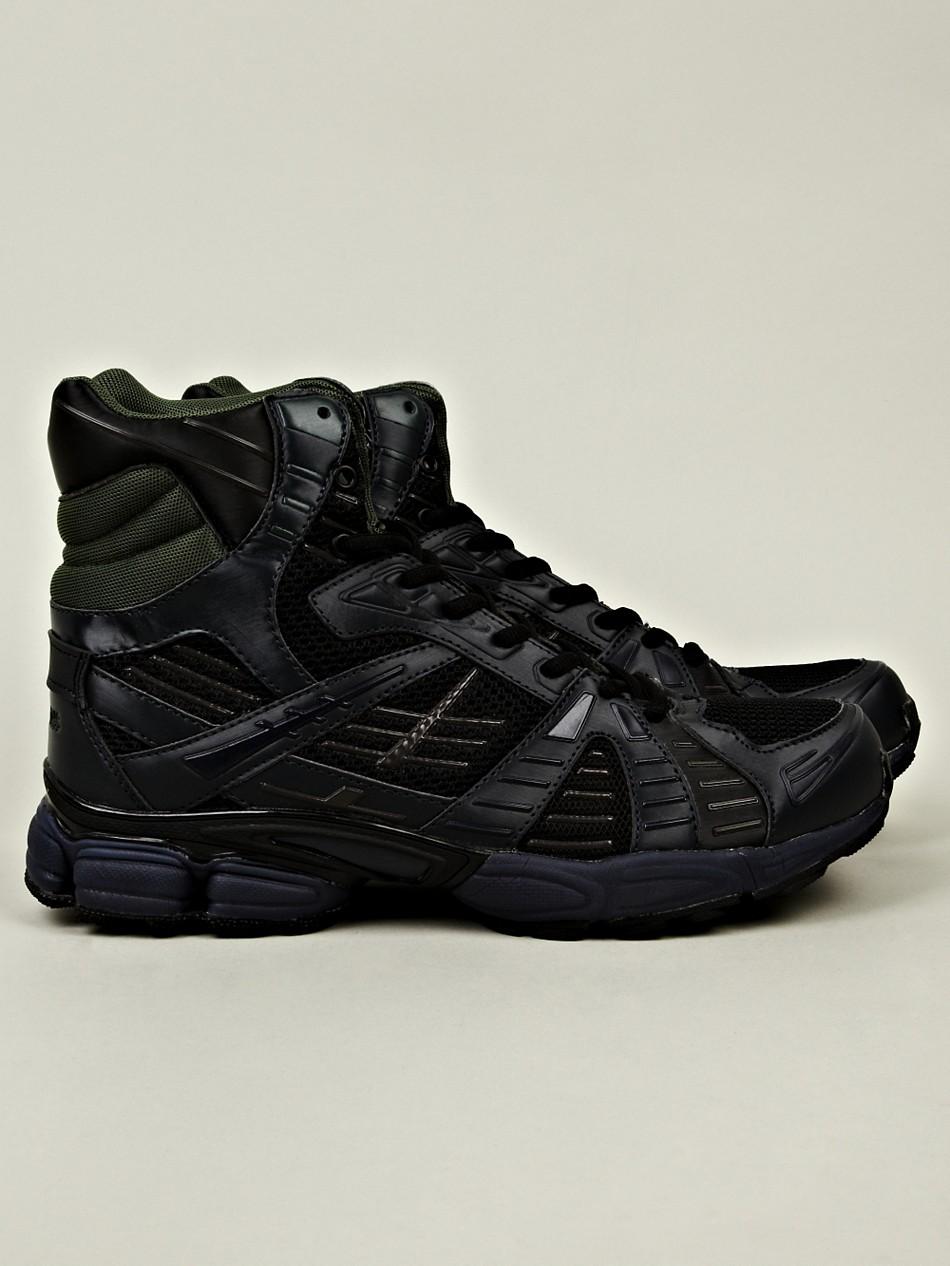 raf simons mens high top running sneaker in black for men blue lyst. Black Bedroom Furniture Sets. Home Design Ideas