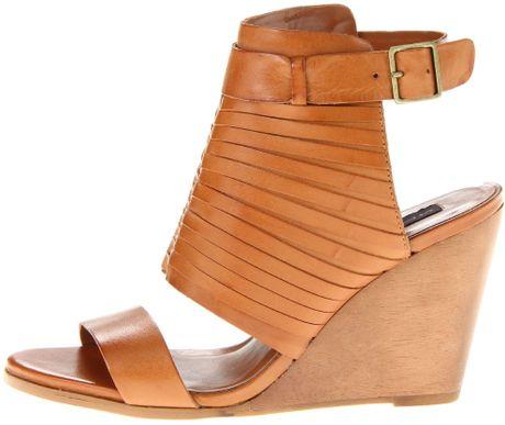 5c4ba7387170 Steven steve madden cognac leather steven steve madden womens jannell wedge  sandal product large flex jpg