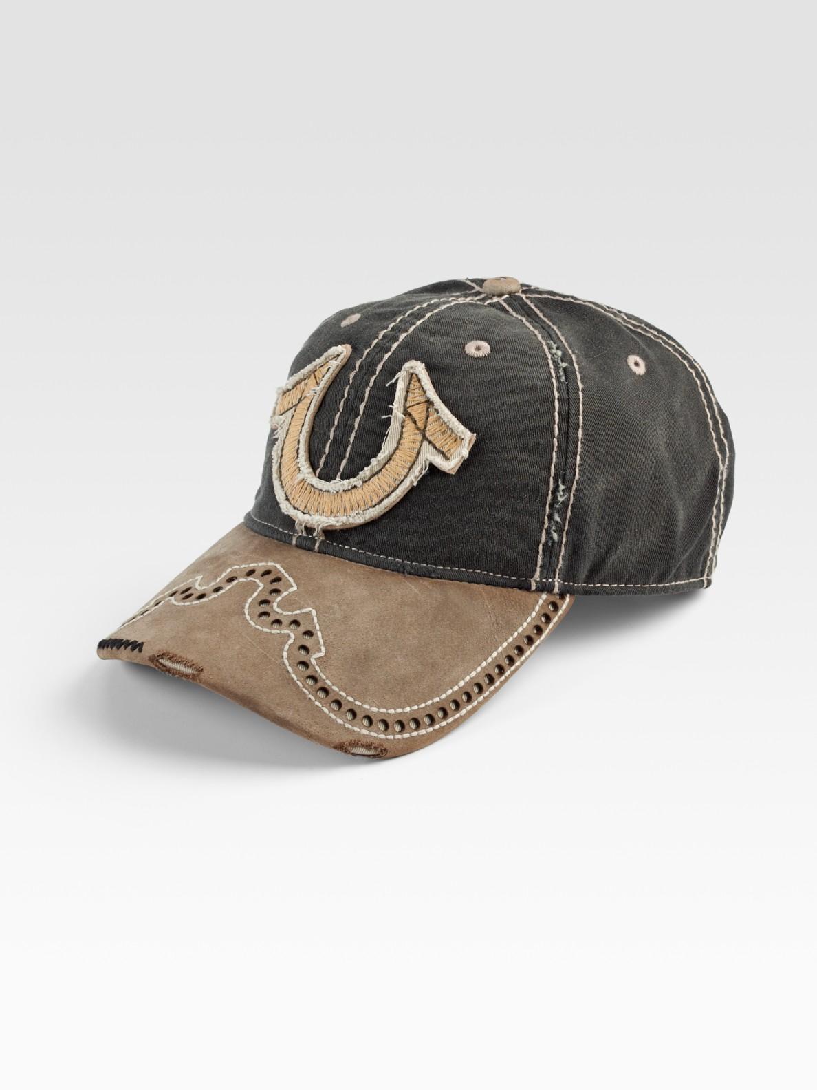 true religion western horseshoe baseball cap in green for