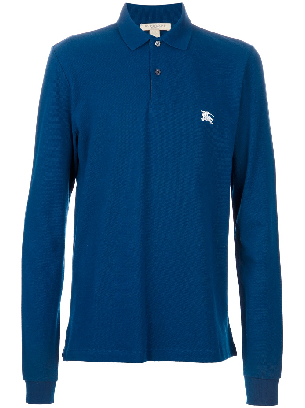 Burberry Brit Long Sleeve Polo Shirt In Blue For Men Lyst