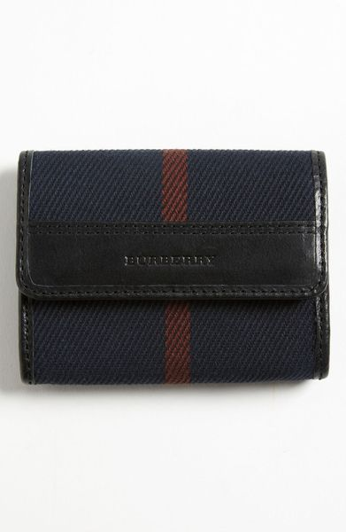 Burberry Check Card Case in Red for Men (end of color list navy check) - Lyst