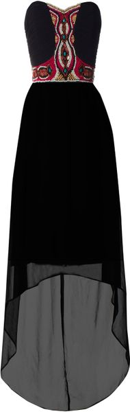 Jane Norman Tribal Bead Maxi in Black