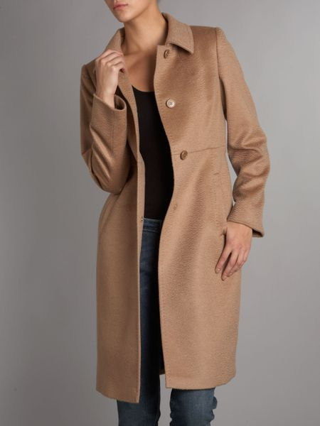 Max Mara Studio Cashmere And Wool Wrap Coat In Beige