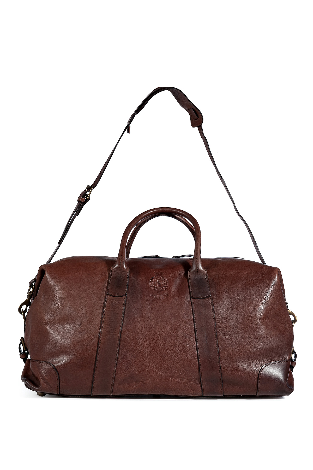2bd405b699 ... canada lyst ralph lauren brown leather overnight duffle bag in brown  for men c5cea 010a4