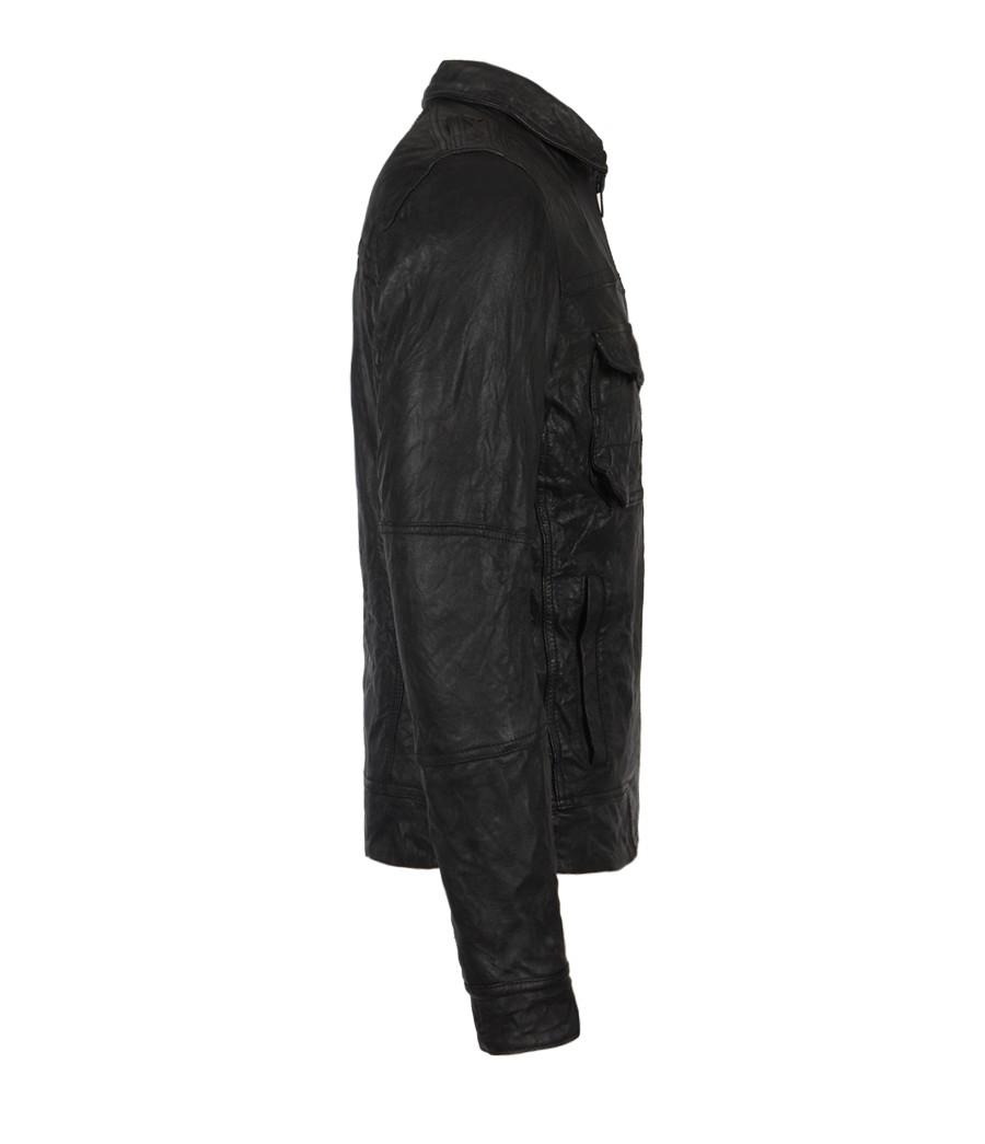 Shift leather jacket