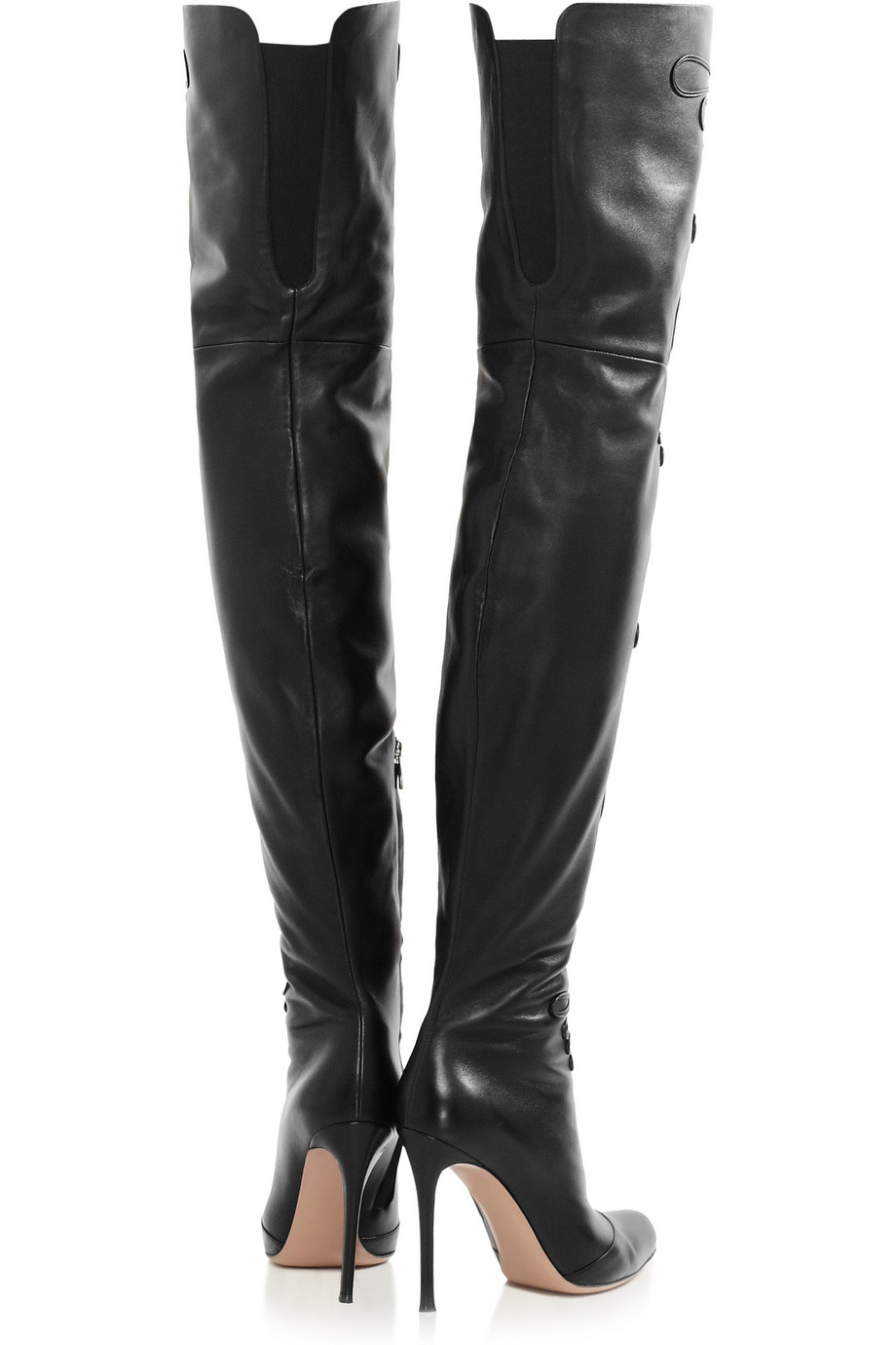 altuzarra embroidered leather thigh boots in black lyst