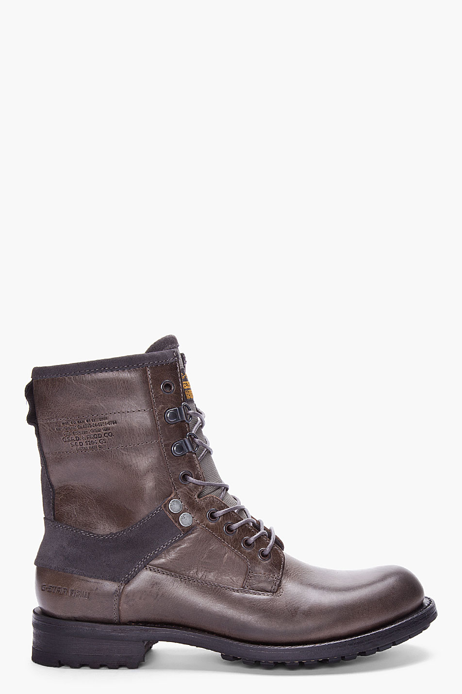 g star raw charcoal patton iii narltor boots in gray for men charcoal lyst. Black Bedroom Furniture Sets. Home Design Ideas