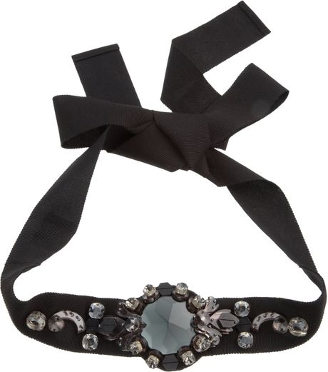 Lanvin Crystal Victoria Choker in Black