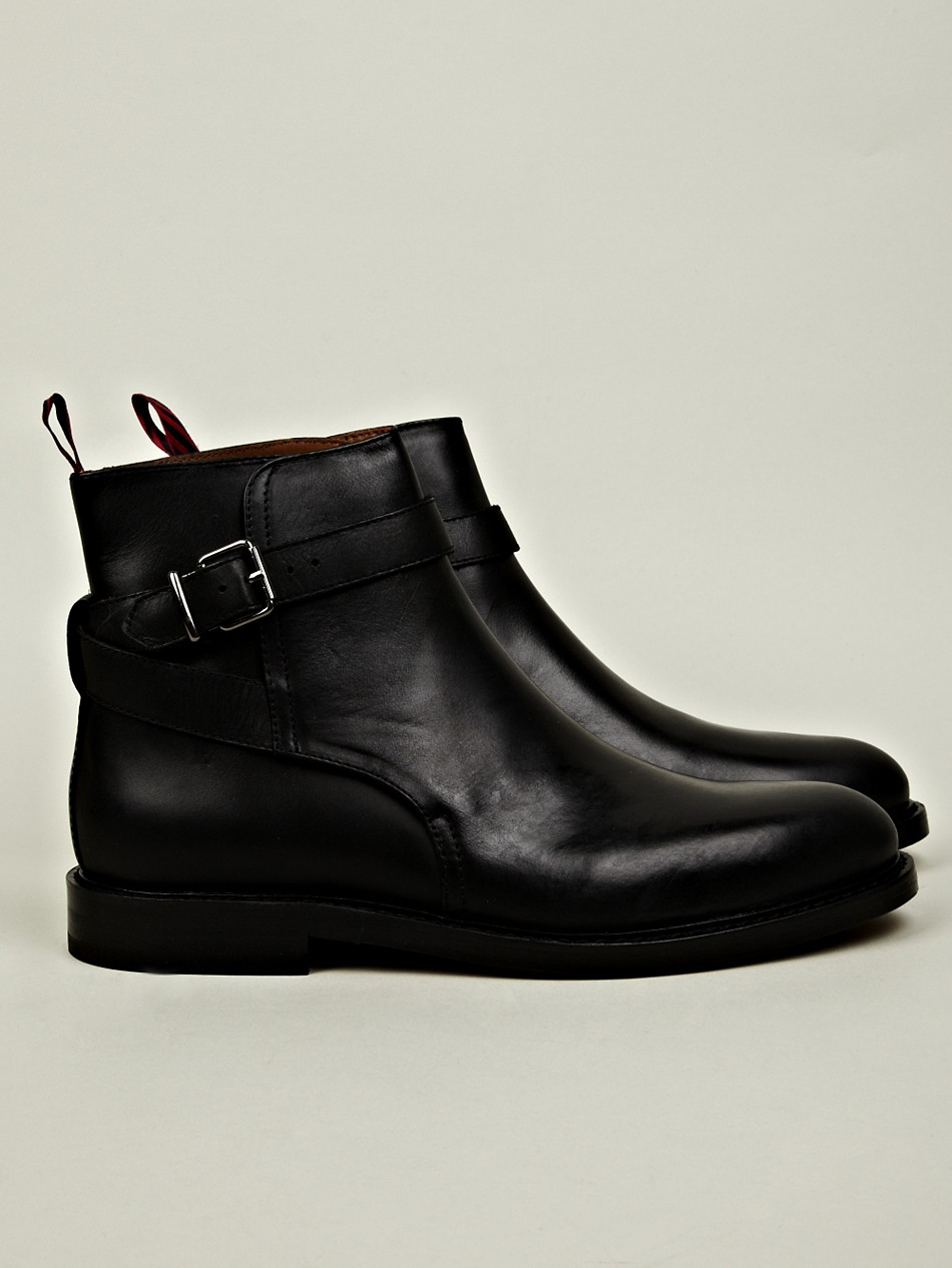 polo ralph mens newent jodhpur boot in black for