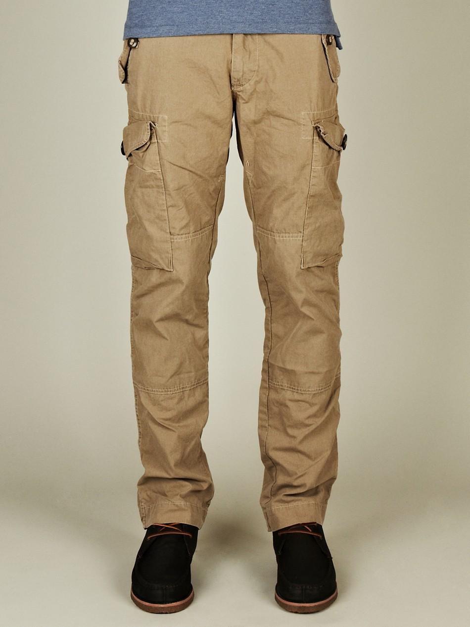khaki cargo pants for men - Pi Pants