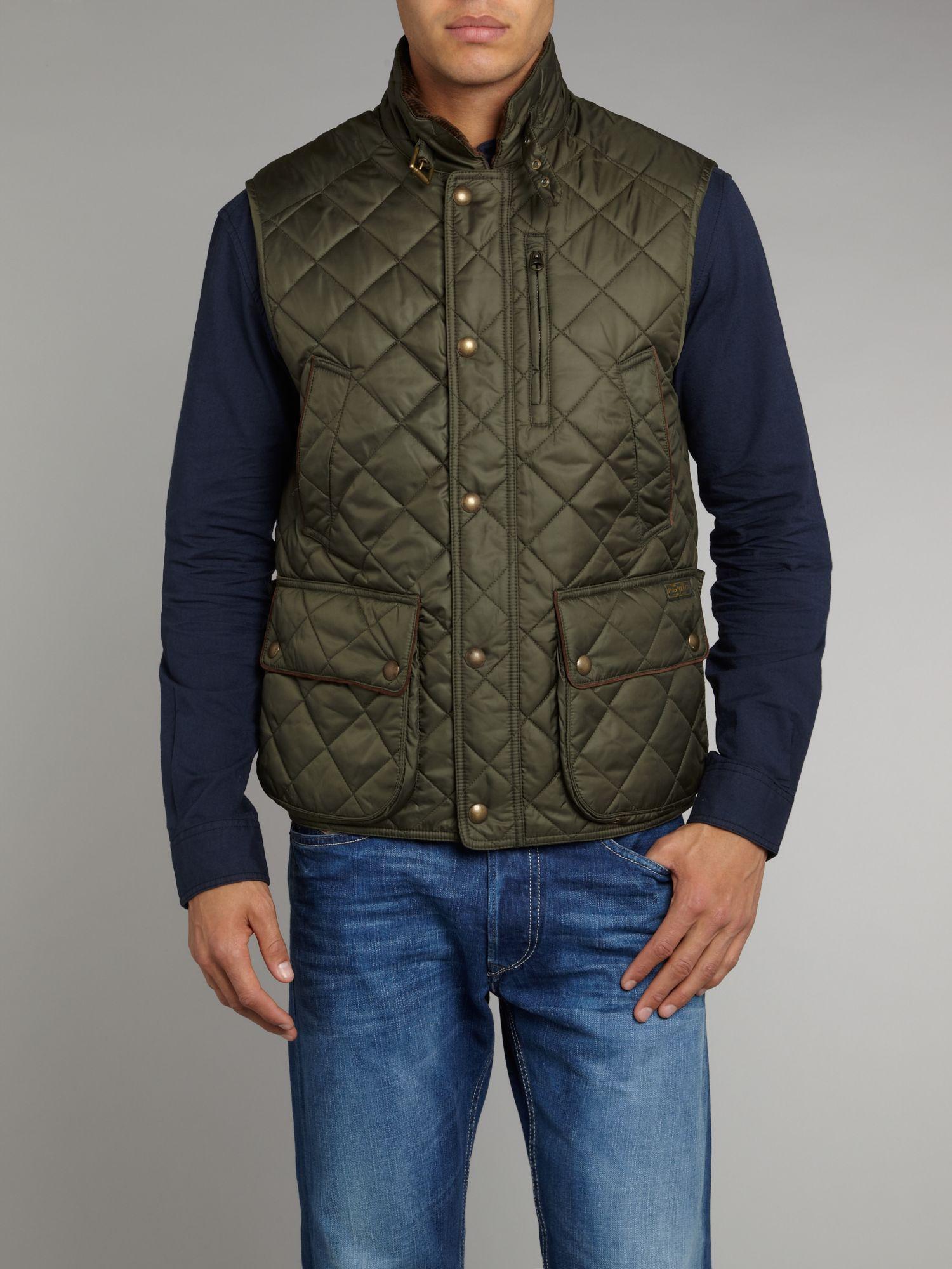 Polo Ralph Lauren Quilted Vest In Green For Men Lyst
