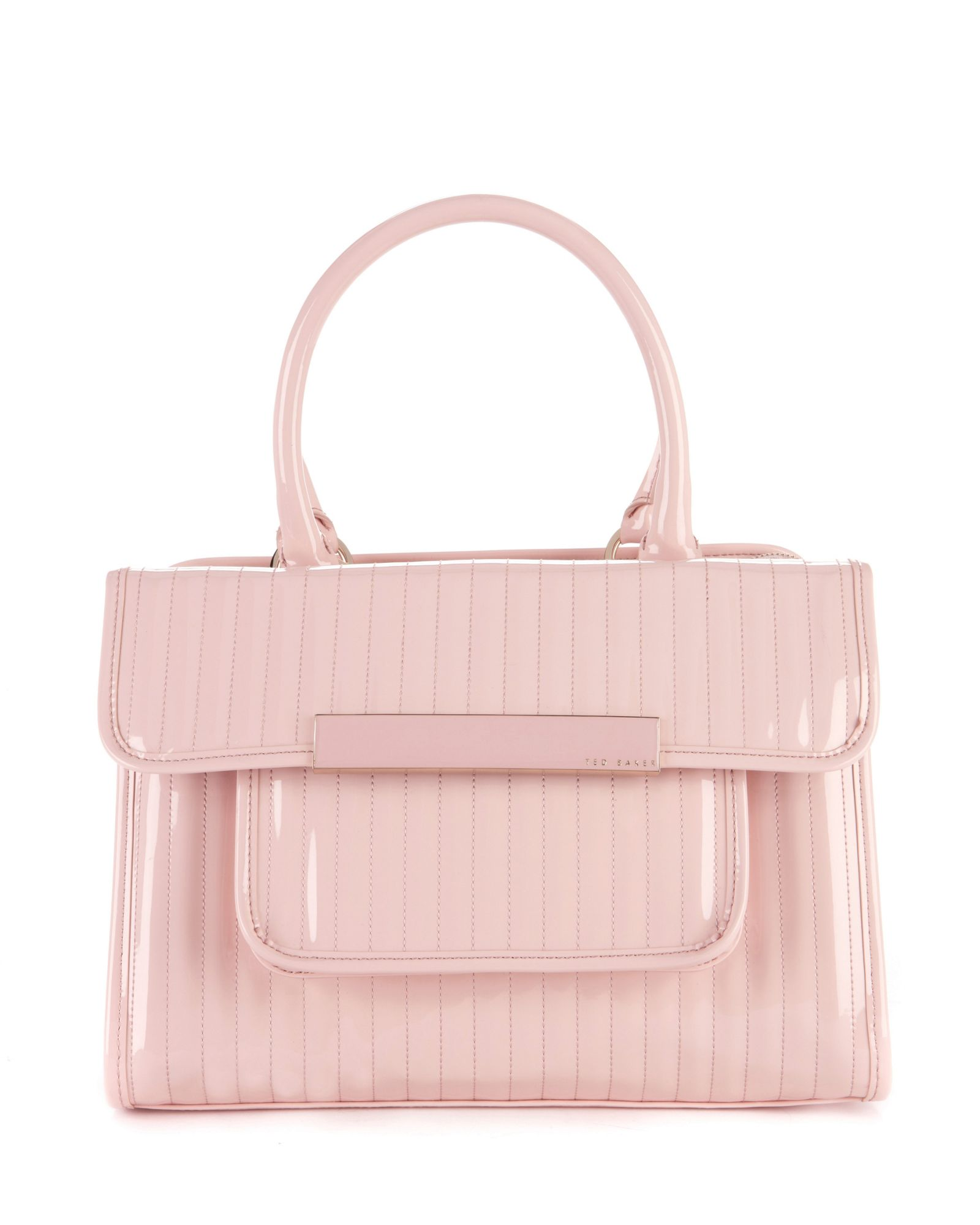 Ted Baker Mardun Patent Quilted Tote Bag In Pink Lyst