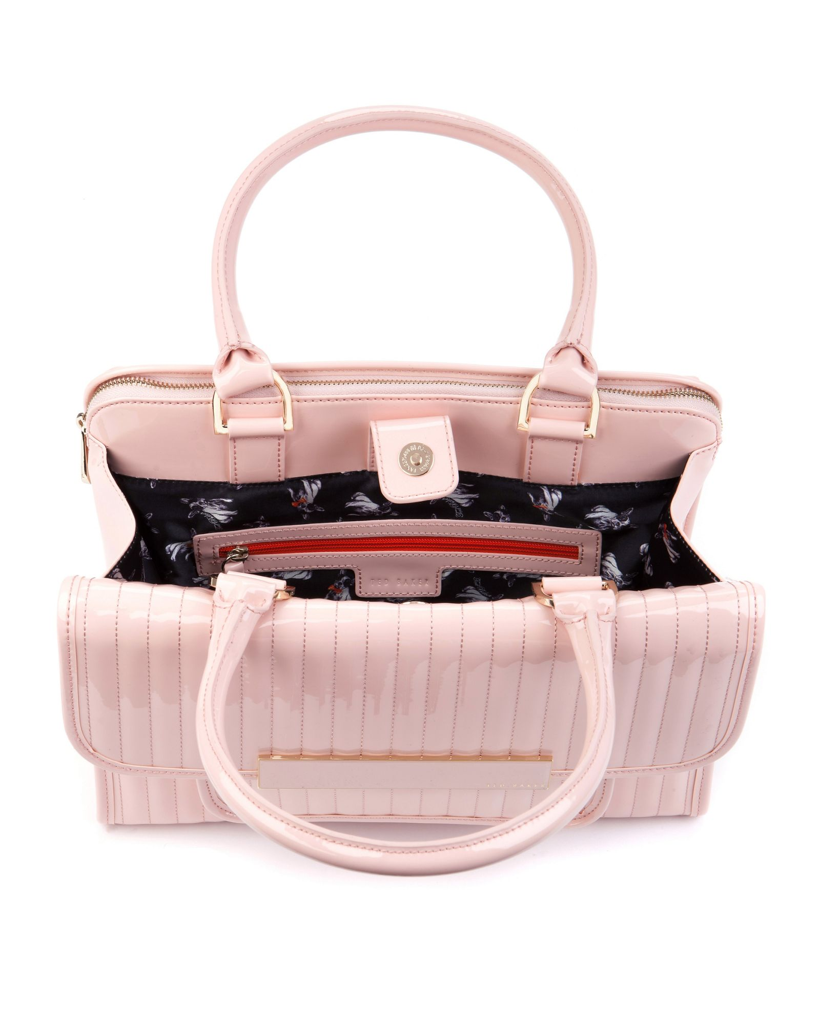 Ted baker Mardun Patent Quilted Tote Bag in Pink | Lyst : ted baker quilted tote bag - Adamdwight.com