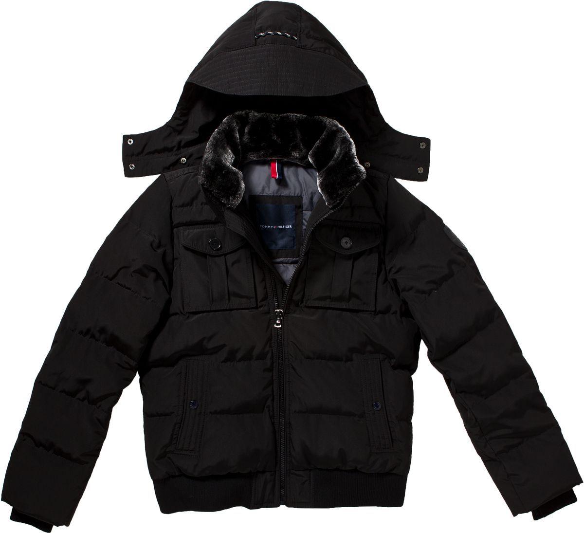 tommy hilfiger doug bomber jacket in black for men lyst. Black Bedroom Furniture Sets. Home Design Ideas